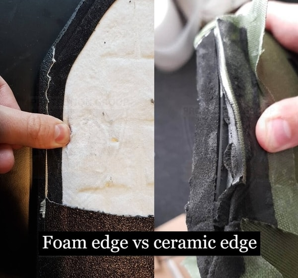 Foam edge vs ceramic edge