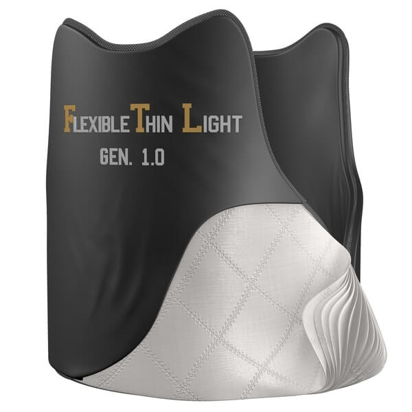 Flexible, thin and light (FTL). Bulletproof vest.